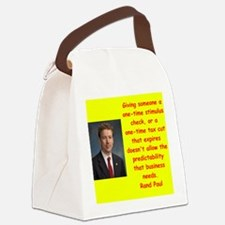 rand paul quotes Canvas Lunch Bag