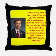 rand paul quotes Throw Pillow