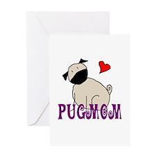 Fawn StickPugmom Greeting Card