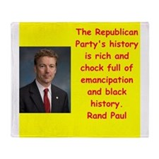 rand paul quotes Throw Blanket