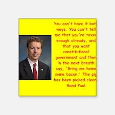 rand paul quote Sticker