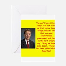 rand paul quote Greeting Cards