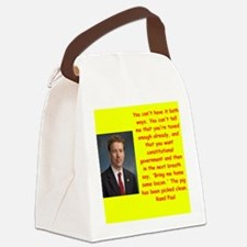 rand paul quote Canvas Lunch Bag
