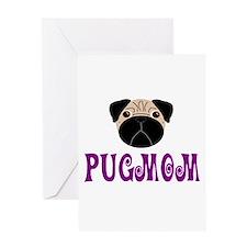 Fawn Pugmom Greeting Card