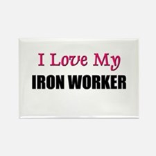 I Love My IRON WORKER Rectangle Magnet