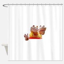 Lucky Cats Family Shower Curtain
