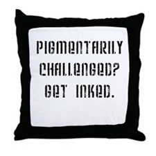 Get Inked Throw Pillow