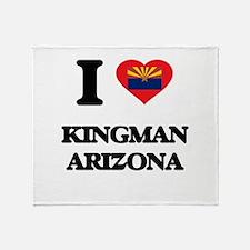 I love Kingman Arizona Throw Blanket