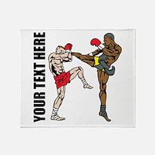 Kick Boxing Throw Blanket
