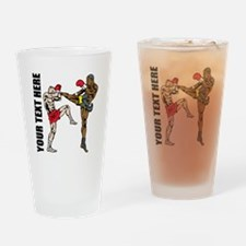 Kick Boxing Drinking Glass