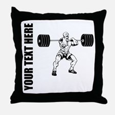 Power Lifting Throw Pillow