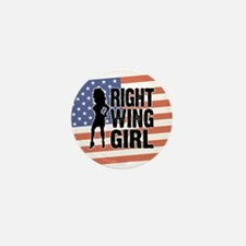 Right Wing Girl Mini Button