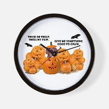 Trick Or Treat (Dachshund) Wall Clock