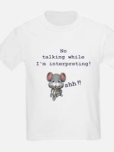 ASL Mouse: No talking while I T-Shirt