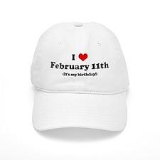I Love February 11th (my birt Baseball Cap