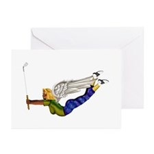 Lucky Golf Angel Greeting Cards (Pk of 20)