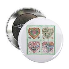 4-Hearts Cross-Stitch Button