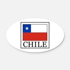 Chile Oval Car Magnet