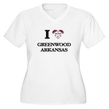I love Greenwood Arkansas Plus Size T-Shirt