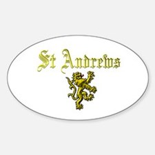 St Andrews. Oval Decal