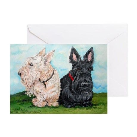 Scottish Terrier Compani Greeting Cards (Pk of 20)