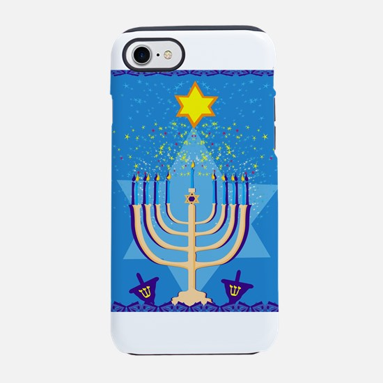 hanukkah menorah iPhone 7 Tough Case