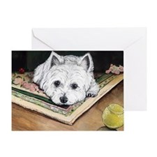 Please Play Westie Greeting Card