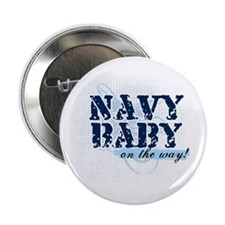Navy Baby On The Way (v2) Button