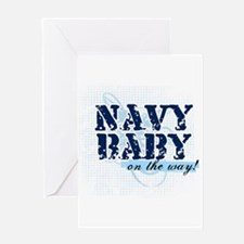 Navy Baby On The Way (v2) Greeting Card