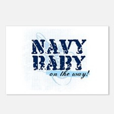 Navy Baby On The Way (v2) Postcards (Package of 8)