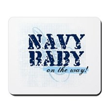 Navy Baby On The Way (v2) Mousepad