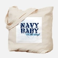 Navy Baby On The Way (v2) Tote Bag