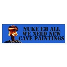 NUKE EM ALL BUMPER STICKERS