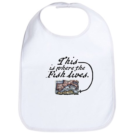 This Is Where The Fish Lives Bib