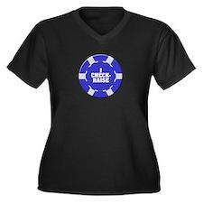 I Check-Raise Poker Women's Plus Size V-Neck Dark