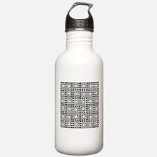 Crazy Dots black and w Water Bottle