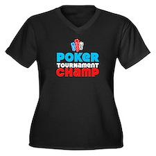 Poker Tournament Champ, Poker Women's Plus Size V-