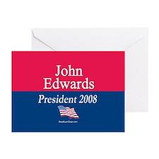 """John Edwards President"" Greeting Cards (10)"