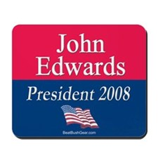 """John Edwards President"" Mousepad"