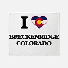 I love Breckenridge Colorado Throw Blanket