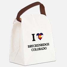 I love Breckenridge Colorado Canvas Lunch Bag