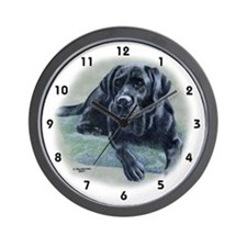 Classic Black Lab Wall Clock