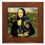 Mona Lisa/Rottweiler Framed Tile