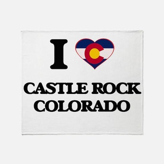 I love Castle Rock Colorado Throw Blanket