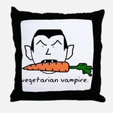 Vegetarian Vampire Throw Pillow