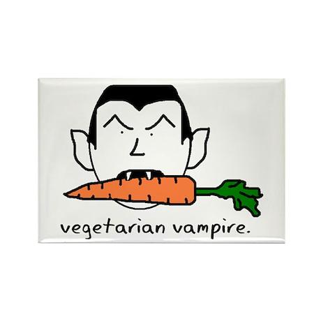 Vegetarian Vampire Rectangle Magnet (10 pack)
