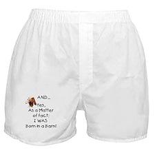 GOAT Born in Barn Boxer Shorts