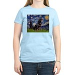 Starry/Rottweiler (#6) Women's Light T-Shirt
