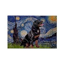 Starry/Rottweiler (#6) Rectangle Magnet