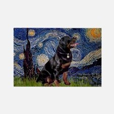 Starry/Rottweiler (#6) Rectangle Magnet